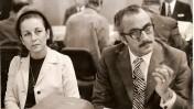 """משה חובב ורעייתו דרורה בן-אב""""י בכנס בינלאומי בנושאי רדיו באיטליה, שנות ה-70 (צילום: באדיבות משפחת חובב)"""
