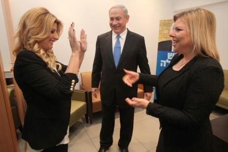 הזמרת שרית חדד והזוג נתניהו, אתמול בירושלים (צילום: יוסי זמיר)
