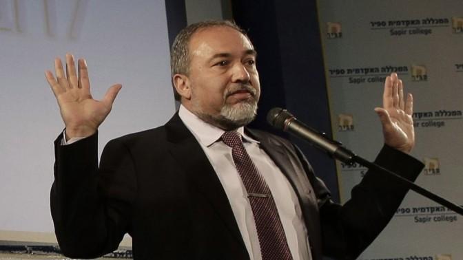 שר החוץ המתפטר אביגדור ליברמן, השבוע בכנס שדרות (צילום: צפריר אביוב)