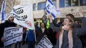 הפגנה למען זכויות עובדי קבלן, ירושלים, 9.1.12 (צילום: דוד ועקנין)
