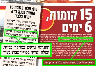 """הפרסומים ב""""ישראל היום"""" וב""""מעריב"""""""