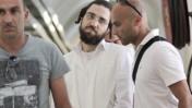 אלחנן אוסטרוביץ', אחד החשודים בריסוס כתובות נאצה ביד-ושם, אתמול (צילום: אורן נחשון)