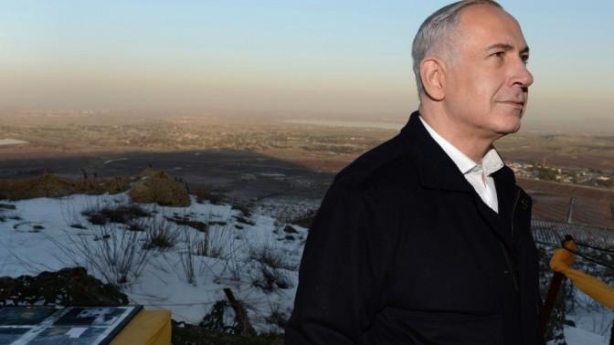 בנימין נתניהו, ראש ממשלת ישראל, אתמול ברמת-הגולן (צילום: קובי גדעון)