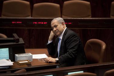 ראש הממשלה בנימין נתניהו, השבוע בכנסת (צילום: דוד ועקנין)