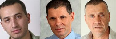 מימין: ישראל גולדשטיין, טל רז ואבי משולם (צילומי יחצנות)