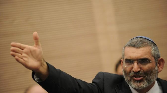 """ח""""כ מיכאל בן-ארי (האיחוד-הלאומי) בדיון אתמול בכנסת (צילום: יואב ארי דודקביץ')"""