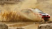 מכונית של חברת מיצובישי בבוץ (צילום ארכיון)