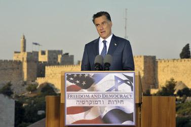 """מיט רומני, המועמד הרפובליקאי לנשיאות ארה""""ב (צילום: יואב ארי דודקביץ')"""