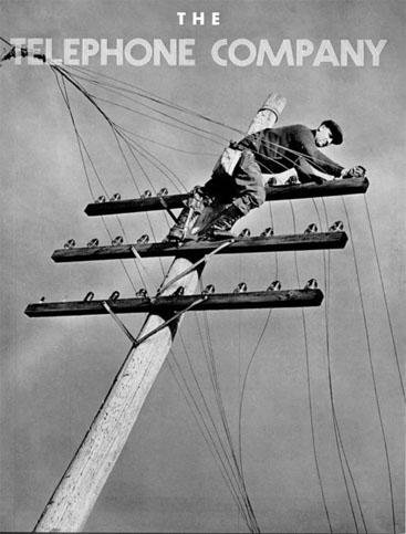 מודעת פרסום לחברת טלפון, ארצות-הברית, 1920