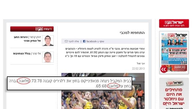"""מלאגה נגד מלאגה (""""ישראל היום"""", 22.2.2013)"""