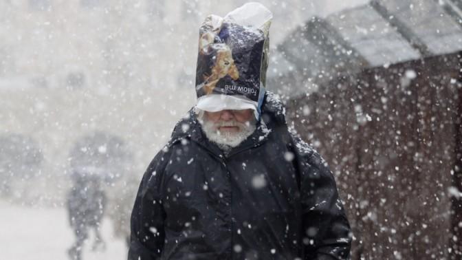 שלג בירושלים, שלשום (צילום: אורן נחשון)