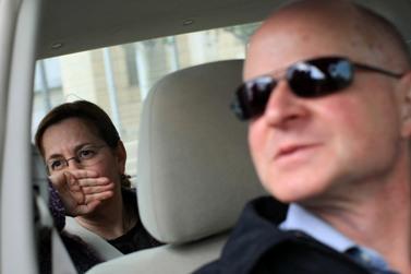 אביבה ונועם שליט, הוריו של החייל השבוי גלעד שליט, בשבוע שעבר (צילום: קובי גדעון)