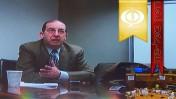 """נשיא """"פרו-פבליקה"""" ריצ'רד טופל בראיון וידיאו במכון הישראלי לדמוקרטיה (צילום: """"העין השביעית"""")"""