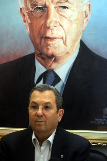 אהוד ברק בישיבת מפלגה, 10 למרץ (צילום: פלאש 90)