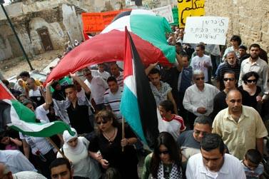 """תהלוכת מחאה ביפו ב""""יום האדמה"""", 28 במרץ (צילום: פלאש 90)"""