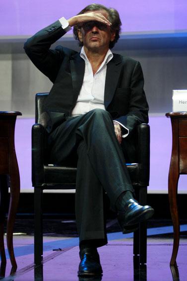 הפילוסוף ברנאר אנרי לוי (צילום: אוליביה פיטוסי)