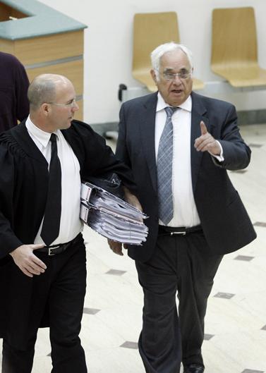 מוריס טלנסקי, היום בבית-המשפט בירושלים (צילום: מיכל פתאל)