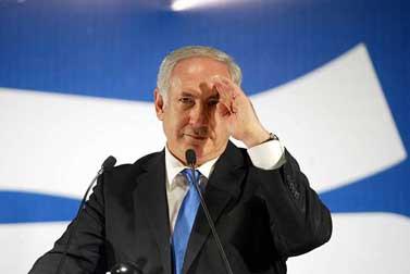 """יו""""ר הליכוד בנימין נתניהו, אתמול בכנס המפלגה בתל-אביב (צילום: רוני שיצר)"""