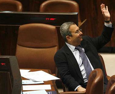 שר הביטחון אהוד ברק. הכנסת, נובמבר (צילום: מיכל פתאל)
