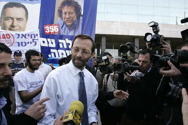 משה פייגלין, המתמודד על מקום ברשימת הליכוד לכנסת, היום בירושלים (צילום: אוליביה פיטוסי)
