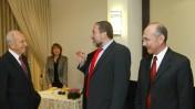 ראשי מפלגת ישראל-ביתנו בפגישה עם הנשיא, אתמול (צילום: אוליבייה פיטוסי)