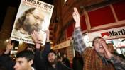 הפגנה לשחרור פולארד, בשנה שעברה בירושלים (צילום: פלאש 90)