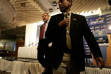 אביגדור ליברמן בכנס ירושלים (צילום: אורי לנץ)