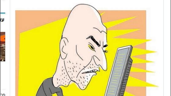 """קריקטורה של עמוס בידרמן ב""""הארץ"""", 19.2.2013"""