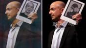 "ג'ף בזוס אוחז בקינדל. מימין: גטי-אימג'ס, משמאל: ""מעריב"""