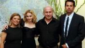 """מימין: העוזר האישי גיא עוזרי, ראש הממשלה בנימין נתניהו, הזמרת מדונה, אשת ראש הממשלה שרה נתניהו (צילום: אבי אוחיון, לע""""מ)"""