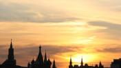 שקיעה במוסקבה (צילום: אנה קפלן)