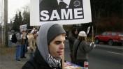 הפגנה בוושינגטון שנערכה בזמן הענקת פרס הנובל לנשיא אובמה (צילום: ^Berd, רשיון cc-by-nc-nd)