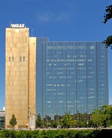 בניין בית ההוצאה לאור אקסל-שפרינגר בברלין (צילום: ז'אן-פייר דלבר, רישיון cc)