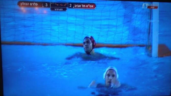 נדיר בהחלט: משחק כדורמים בישראל בשידור ישיר. צילום מתוך ערוץ הספורט