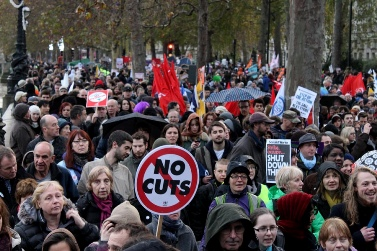 שביתה בבריטניה, אתמול (צילום: xpgomes9, רישיון CC BY-NC-SA 2.0)