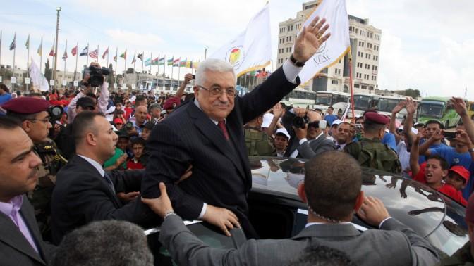 """יו""""ר הרשות הפלסטינית אבו-מאזן, אתמול ברמאללה (צילום: עיסאם רימאווי)"""