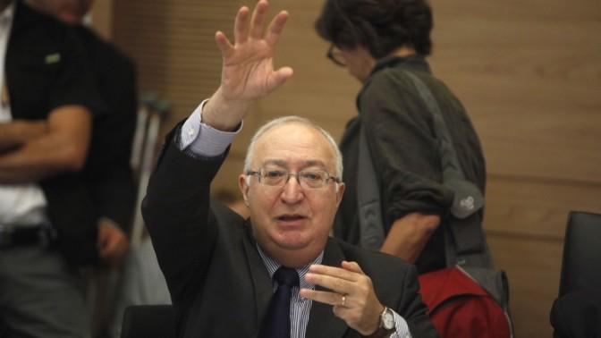 פרופ' מנואל טרכטנברג בכנסת, 17.3.2013 (צילום: ליאור מזרחי)