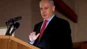בנימין נתניהו, ראש ממשלת ישראל, אתמול בוועידת הנשיאים בירושלים (צילום: דוד ועקנין)
