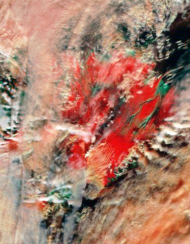 הר געש איסלנדי (צילום: NASA)