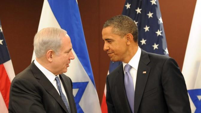"""ראש ממשלת ישראל בנימין נתניהו ונשיא ארה""""ב ברק אובמה, אתמול באו""""ם (צילום: משה מילנר, לע""""מ)"""