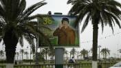 שלט בכיכר הירוקה של טריפולי, לוב, 27.5.08 (צילום: Quigibo, רשיון cc-by-nd 2.0)