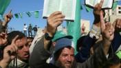 הפגנת חמאס בעזה, שלשום (צילום: עבד רחים ח'טיב)