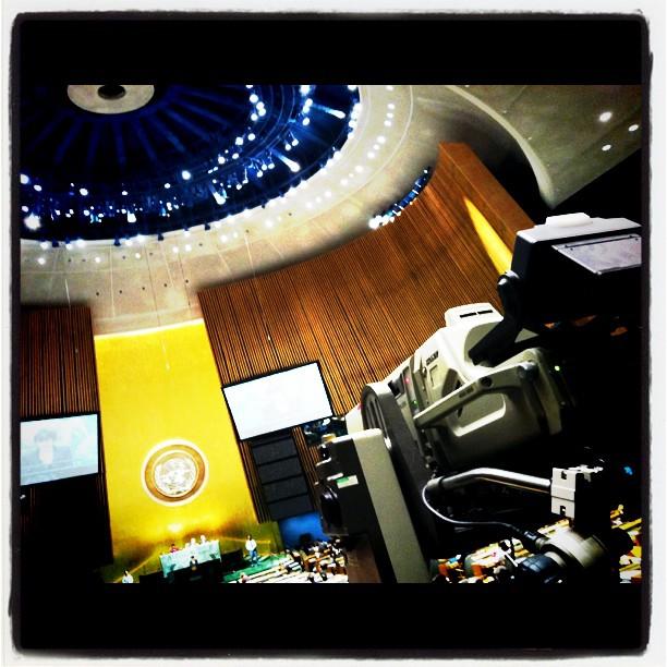 """אולם העצרת הכללית של האו""""ם, שלשום (צילום: UN Photo/JC McIlwaine, רישיון CC BY-NC-ND 2.0)"""