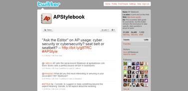 AP Stylebook (APStylebook) on Twitter