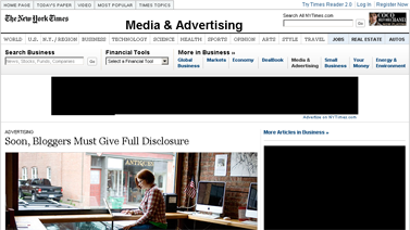 Advertising - F.T.C. to Rule Blogs Must Disclose Gifts or Pay for Reviews - NYTimes.com