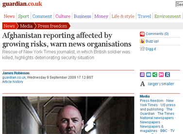 Afghanistan reporting affected by growing risks, warn news organisations  Media  The Guardian