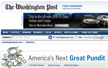 Americas Next Great Pundit Win a Weekly Opinions Column - washingtonpost.com