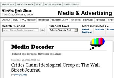 Critics Claim Ideological Creep at The Wall Street Journal