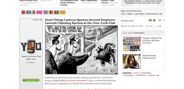Dead Chimp Cartoon Spawns Second Employee Lawsuit Claiming Racism at the New York Post - New York Post - Gawker