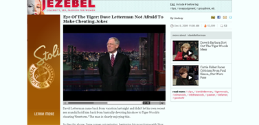 Eye Of The Tiger- Dave Letterman Not Afraid To Make Cheating Jokes - David Letterman - Jezebel